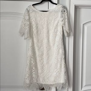 Anthropologie White Lace Dress 10 Great Bridal